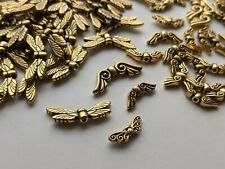Tierracast antique gold dragonfly beads (tcb6) angel wing beads bargain mix