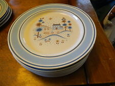 7  Primitif Museum Collection Stoneware dinner plates 10 3/4''