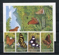 Dominica 782/85 Block 76 postfrisch / Schmetterlinge .....................1/1665