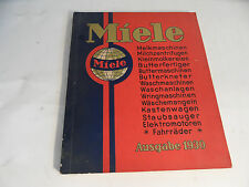 ancien catalogue de Miele Ausgabe 1930