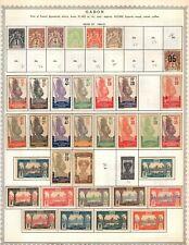 Gabon Collection from Minkus Global Album Much Unused