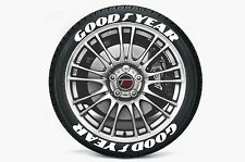 "Tire Stickers - ""GOOD YEAR"" - 1"" For 17""-18"" Wheels (8 decals) - low profile"