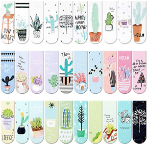 6 Pcs Random Cute Magnetic Bookmarks Page Markers Page Clips for Student Office