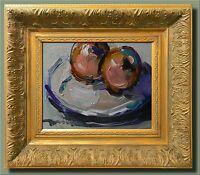JOSE TRUJILLO SIGNED CANVAS MODERN Oil Painting FRAMED IMPRESSIONISM STILL LIFE