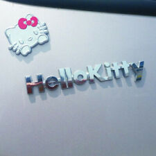 Hello Kitty 3D Car Sticker Kit Pure Metal Cat Decal Scratch To Women Girls Car