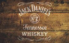 A4 Jack Daniels no.7 Mobili Stencil Shabby Chic Tessuto ornata Vintage MYLAR