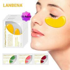 5 Pairs LANBENA 24K Gold Collagen Under Eye Mask Patch Anti Wrinkle Skin Care
