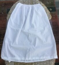 Vintage White Skirt Slip, Size WX, Polycotton, Made in the UK