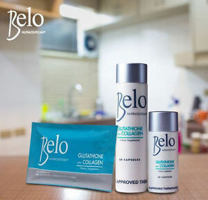 Belo Nutraceuticals Glutathione with Collagen Capsules Skin Whitening Bleaching
