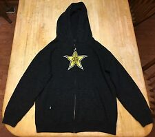 One Industries Rockstar Energy Drink BLACK Hoodie Jacket Size Youth (12-14) L