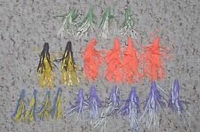 20 OLD RUBBER SKIRTS  NOS VINTAGE PUSH ON ARBOGAST HULA SPINNER BAIT