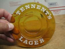 """Tennent'S Lager Beer Ashtray Amber Glass 5 1/2"""" Round"""