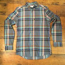 WESC New Long Sleeve Checkered Shirt Green Blue size S