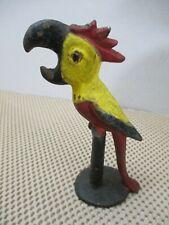 Vintage John Wright Cast Iron Parrot On Perch Bottle Opener