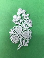 Flowers - shamrock - sew-on lace motif/appliqué/patch/craft/card making