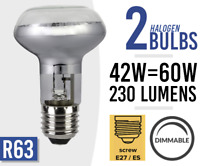 2x Eco 42w = 60w Dimmable Halogen Spot Light Bulb Lamp R63 E27 /ES Screw Fit
