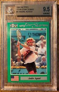 1991 NetPro Tour Stars #3 Andre Agassi RC - BGS 9.5 GEM MINT