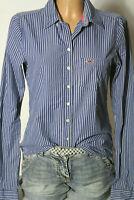 HOLLISTER Bluse Gr. S blau-weiß gestreift Baumwolle Hemd/Bluse maritimer Look