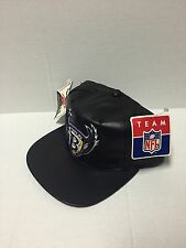 NFL Baltimore Ravens Black Leather Old Logo SnapBack Hat
