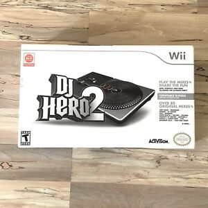 Wii DJ Hero 2 Turntable Bundle (Controller & Game) Brand New And Sealed