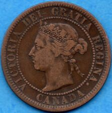 Canada 1888 1 Cent One Large Cent Coin - F/VF