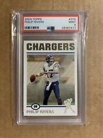 2004 PHILIP RIVERS TOPPS COLLECTION PSA 9 ERROR LABEL #375 ROOKIE RC COLTS