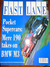Fast Lane Nov 1990 BMW M3 vs Mercedes 190 Cosworth, Chasseuar XJ6, Lister Le Man