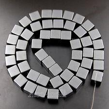 "Hematite Gemstone Cube Square Loose Beads 2mm 3mm 4mm 6mm 8mm 10mm 15.5"""