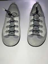 Ecco Breathable Comfort Foam Beige Grey Toggle Shoes size 41  US 10-10.5