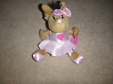 W. Steinbeck Brown Ballerina Mouse In Ballet Dress & Shoes Earrings ~ 10""