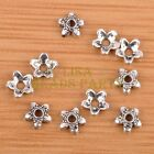 100pcs 6mm Tibetan Silver Bead Caps Charms Spacer Beads Jewelry Findings