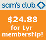 SAM'S CLUB MEMBERSHIP - ONLY $24.88 + $5.00 gift card!! BEST DEAL ONLINE!
