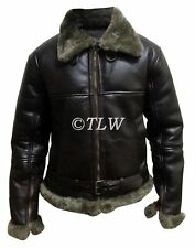 Aviator B3 Ginger Shearling Fly Sheep Bomber Leather Jacket ,ALL SIZES Fast Ship