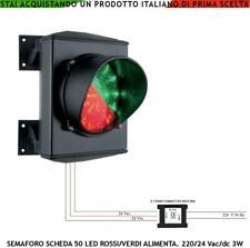 SEMAFORO 2 LUCI 50 LED ROSSI E VERDI ALIMENT. 220/24 V GARAGE RIPETITORE SEGNALE