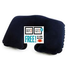 Travel Neck Pillow - Inflatable Head Rest Cushion - Blue