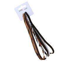4 Animal Zebra Print Long Headbands Hair Elastics Sports Bands Forehead Band