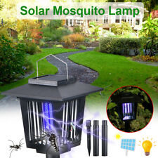 Electric Mosquitoes Insect Zapper Bugs Solar Led Light Lamp Garden Insect Killer