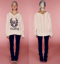 NWT Wildfox SS  White Label BEVERLY LAUREL V-NECK Sweater Sz M Retail $298
