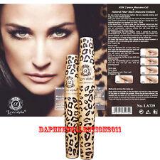 6 Set of Love Alpha LA729 Mascara GEL & Natural Fiber Black Leopard Pattern Case