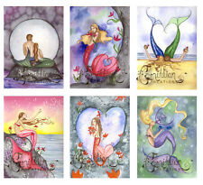 LOVE  MERMAID NOTE CARDS from Original Watercolors by Camille Grimshaw
