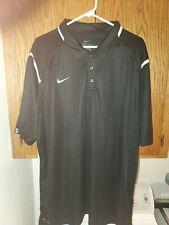 Nike Dri Fit Big Mens 3X 3XL XXXL Black Short Sleeve Golf Polo Dri-Fit Shirt