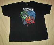 SeaWorld Journey To Atlantis Kraken Manta Official Black cotton T Shirt size 2XL