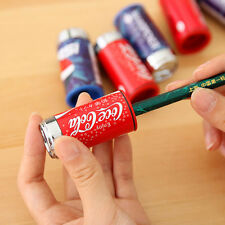Cute Mini Cola Drink Can Pencil Sharpener With Eraser Student School Supplies CN