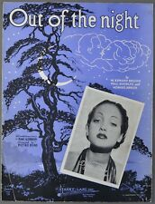 1936 OUT OF THE NIGHT Breuder Rusincky Johnson DOROTHY LAMOUR Sheet Music