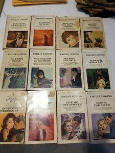 BIG Lot of (12) EMILIE LORING  Vintage BANTAM ROMANCE NOVELS PAPERBACK