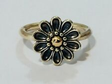 Authentic Pandora Gerbera Gold Two Tone Flower Ring 56 190902