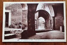 Cagnes-sur-Mer Eglise - Cote Nord - Vintage B&W Photo Postcard 29 France