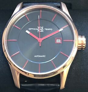 OFFICINA DEL TEMPO MADE IN ITALY OT1033-4300NRN ROSE GOLD COLOUR AND BLACK