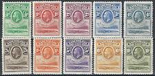1933 Basutoland 10v. TL (MH) SG n. 1/10 £ 325,00