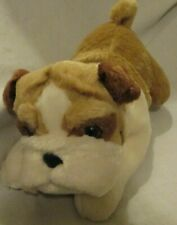 Wills The English Bulldog 9'' Plush Aurora World Stuffed Toy Beanbag Brown Tan
